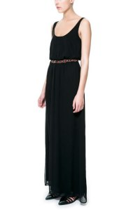 Long Dress with Beaded Belt, $79.90, Zara