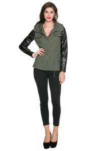 Anorak Leather Sleeve Jacket, $44.00, Foreign Exchange